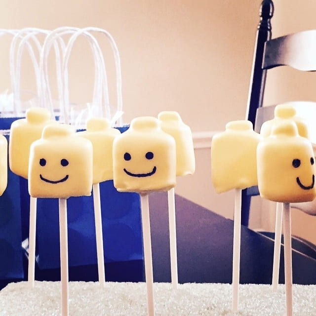 How To Make Lego Head Cake Pops With Marshmallows 2015