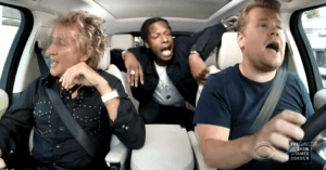 (Watch) Rod Stewart Carpool Karaoke with James Corden and A$AP Rocky