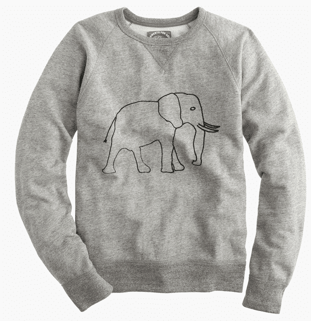 J Crew Elephant Sweatshirt in Gray for Men