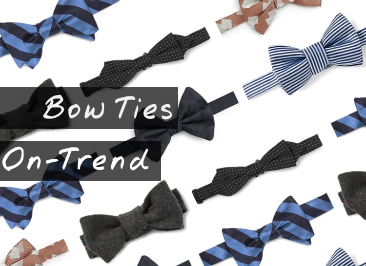 Mens Bow Ties 2017 in Black, White, Striped and Red
