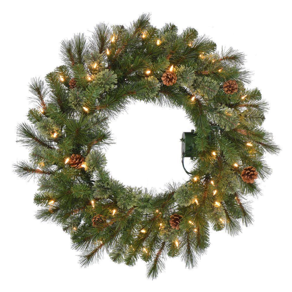 Best Christmas Wreaths 2016: Pre-Lit Front Door Decor Ideas
