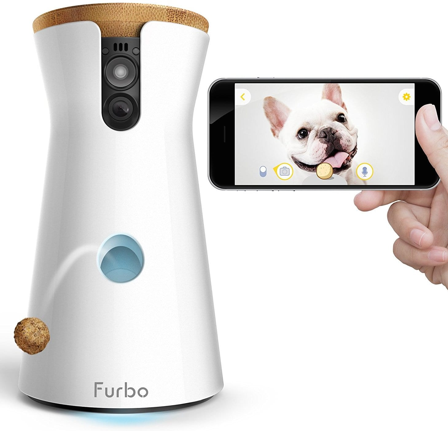 Best Wireless Home Security Cameras 2017: Pet Monitoring Camera by Furbo with Treat Toss