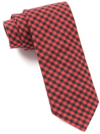 Red Plaid Tie For Fall/Winter 2017 - 2018